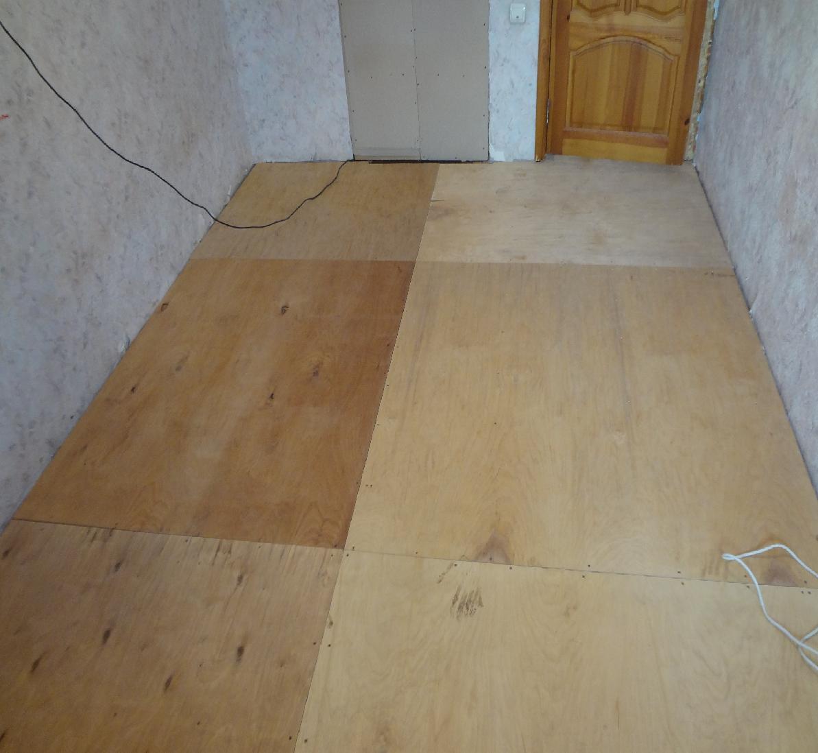Укладка фанеры на бетонный пол своими руками: крепление 63